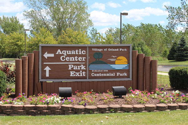 Orland Park Water Park Sign